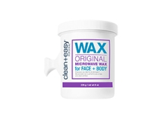 Wide view of Clean + Easy Original Microwave Wax in 8 ounce container