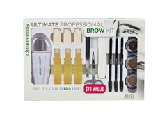 Front view of Clean+easy ultimate professional brow kit in a pack