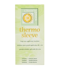 Frontage of Clean + Easy Thermo Sleeve pack with text