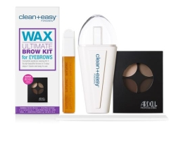 Clean+easy Personal wax ultimate brow kit for eyebrows complete pack with accessories for care for brows