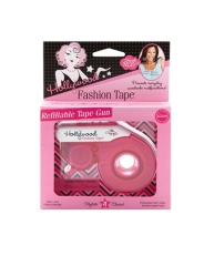 A closer look on a sealed fashion tape dispense in a wall-hook ready pack