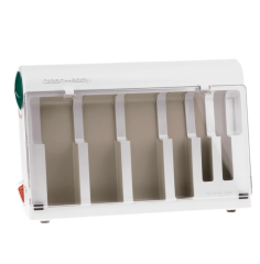 3D perspective of an empty Clean + Easy Waxing Spa Warmer for wax cartridges  system kit