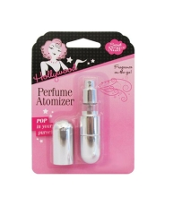 Front view of a Sealed wall-hook ready pack of fragrance atomizer isolated in white color background