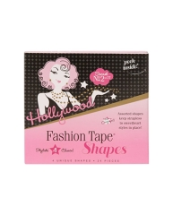 Front view of a clothing strip retail pack with printed label text isolted in white color background