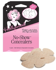 Closeup of Hollywood Fashion Secrets pasties wall-hook ready retail pack with label text