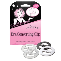 Closeup of Hollywood Bra Converting Clip pack with two counts