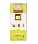 Front view of Neroli oil wax in indian oil blend packaging with printed product text and information
