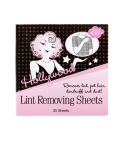 Front view of Hollywood Fashion Secrets lint removing sheets pack with printed text